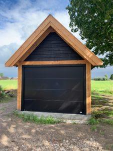 Garagedeur Satin Plano met structuurlak