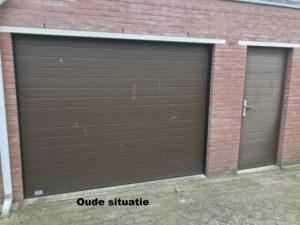 oude situatie garagedeur bruin